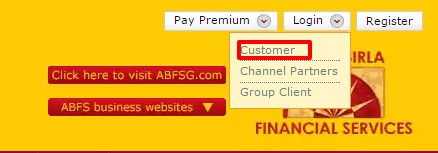 Birla Sun Life Insurance Customer Login