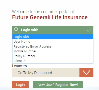 Future Generali Life Insurance User Login