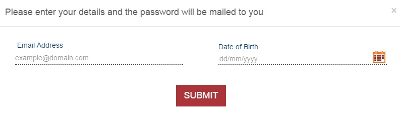 ICICI Forgot password page