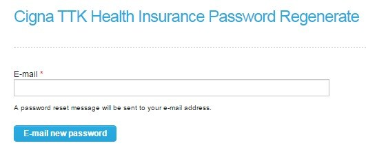 Cigna TTK forgot Password