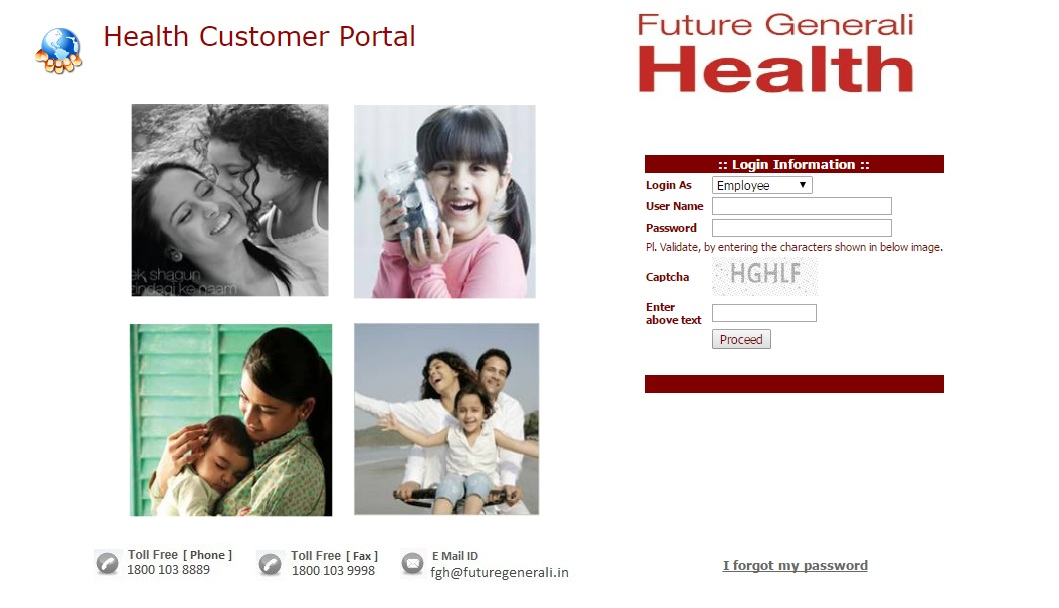 Future Generali Health Customer Portal