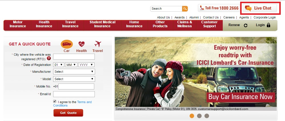 ICICI-Lombard-Live-Chat