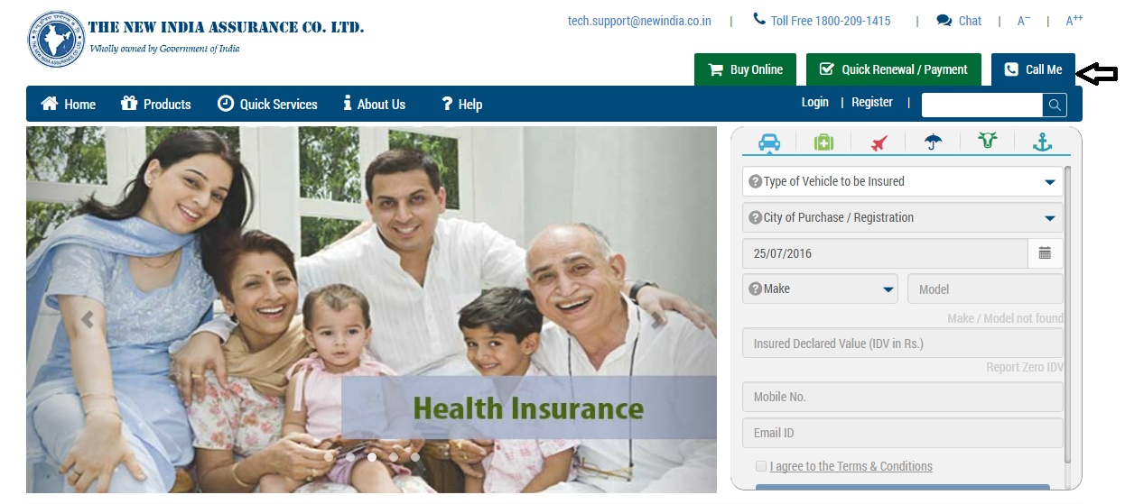 New-India-Assurance-Call-Me