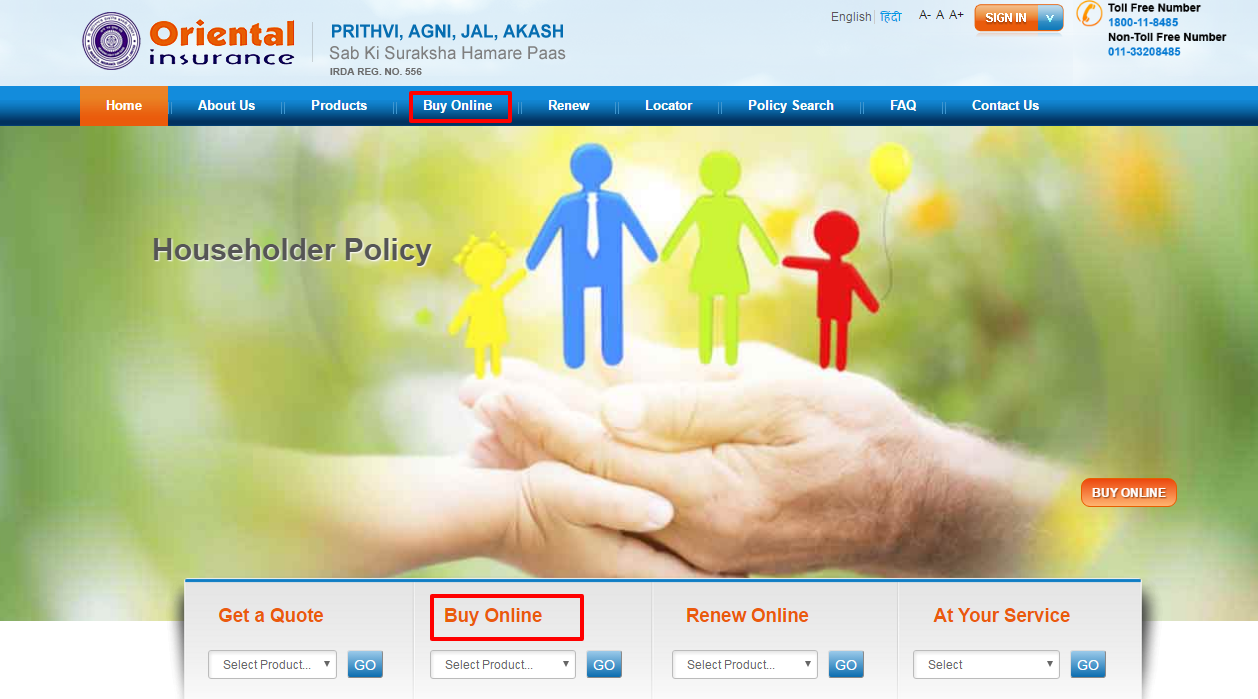 Oriental Insurance Policy Buy Online