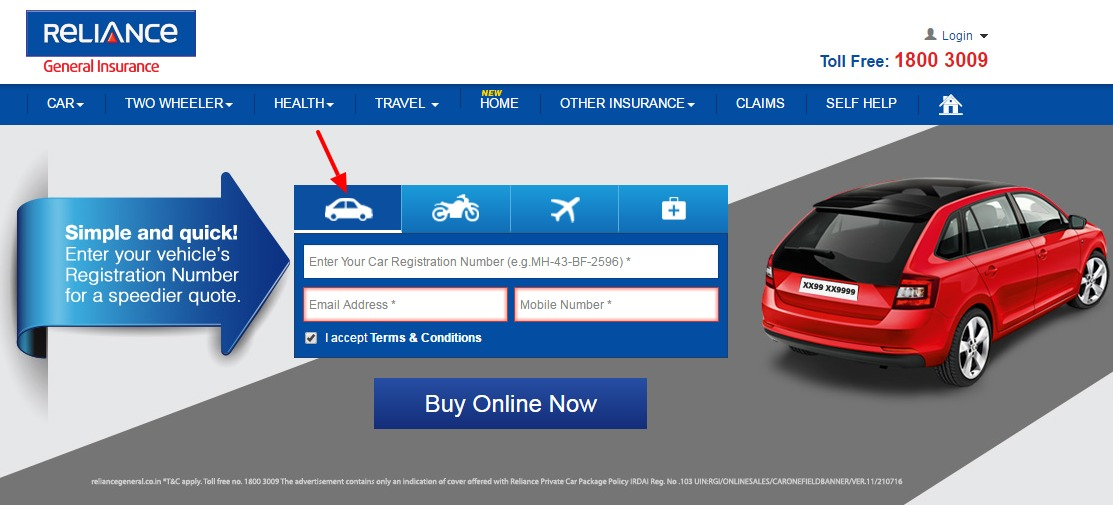 Reliance Car Buy Online