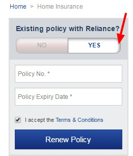 Reliance Renew Policy