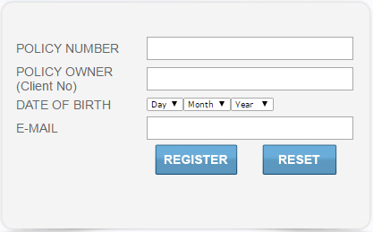 Sahara Life Insurance Registration Page