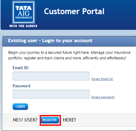 Tata AIG Customer Registration